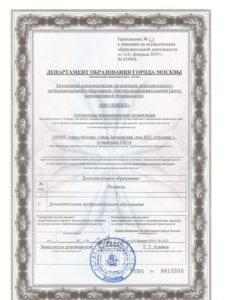 Лицензия (приложение) срок действия с 12.02.2019 г. по настоящее время-1